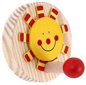 Детска дървена закачалка - Слънце -
