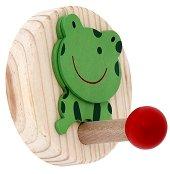Детска дървена закачалка - Жабка -