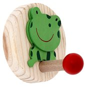 Детска дървена закачалка - Жабка - детски аксесоар