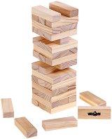 Дженга - Игра с натурални дървени елементи за подреждане -