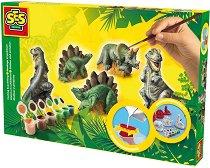 Направи сам фигурки от глина - Динозаври - Творчески комплект - играчка