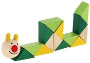 Охлювче - Дървена играчка с подвижни елементи - играчка