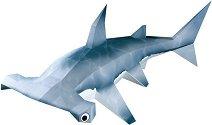 Хартиен свят: Акула чук - Модел за сглобяване - хартиен модел