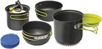 Алуминиеви съдове за готвене - Double X - Комплект от 5 части и торбичка за съхранение