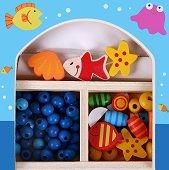 Създай сама бижута - Морско дъно - Мъниста в дървена кутия -