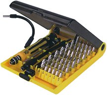 Отвертка със сменяеми накрайници - Комплект 45 части -