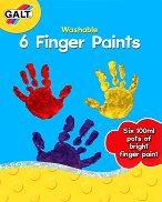 Бои за рисуване с пръсти - Комплект от 6 цвята x 100 ml