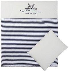 Спален комплект за бебешка люлка - Marine -