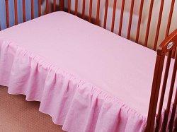 Чаршаф с волан за бебешко креватче - Duet Mouses -