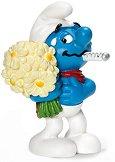 """Смърф с цветя - Фигура от серията """"Малки Смърфове"""" - фигура"""