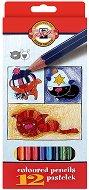 Цветни моливи - Куче и котка