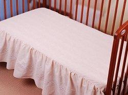 Чаршаф с волан за бебешко креватче - New Eko -