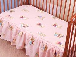 Чаршаф с волан за бебешко креватче - Hit -