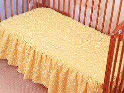 Чаршаф с волан за бебешко креватче - Sunny Day -