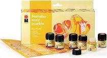 Бои с мраморен ефект - Easy marble - Комплект от 6 цвята x 15 ml