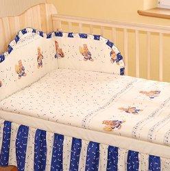Бебешки спален комплект от 2 части - Music Happy - 100% памук за матраци с размери 60 x 120 cm и 70 x 140 cm -