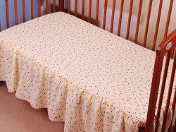 Чаршаф с волан за бебешко креватче - Music -