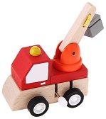 Кран - Дървена играчка с механизъм - продукт