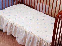 Чаршаф с волан за бебешко креватче - Butterfly -