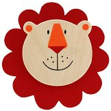 Дървена щипка с магнит - Лъвче - играчка