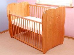 Бебешко креватче с падаща преграда - Baby Heart -