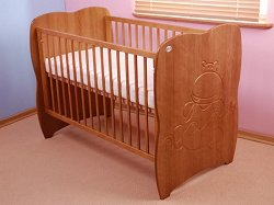 Бебешко креватче с падаща преграда - Hippo -