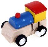 Локомотивче - Дървена играчка с механизъм - играчка