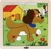 Дървен пъзел в рамка - Куче - пъзел