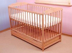 Бебешко креватче с чекмедже - Pawelek - Цвят натурален -