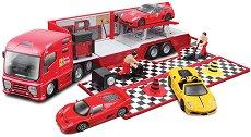 """Камион-автосервиз и кола - Играчки от серията """"Ferrari Race & Play"""" - творчески комплект"""