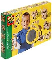 Дървен конструктор - Творчески комплект - играчка