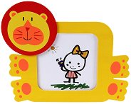 Дървена рамка за снимка - Лъв - детски аксесоар