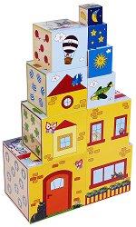 Пъзел - кубче в кубче - Дървена играчка - играчка