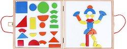 Магнитна мозайка с дъска-куфарче - играчка