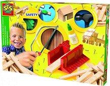 Детски дърводелски комплект - играчка