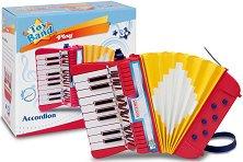 Акордеон с 17 клавиша и 6 баса - Детски музикален инструмент - играчка