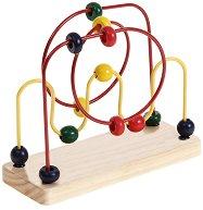 Лабиринт с цветни топчета - Дървена образователна играчка -