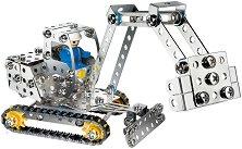 """Верижен багер с подвижни елементи - Детски метален конструктор от серията """"Класик"""" -"""