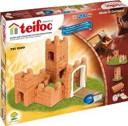 """Малка средновековна крепост - 3 в 1 - Детски сглобяем модел от истински тухлички от серията """"Teifoc: Professional"""" - макет"""
