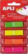 Самозалепващи неонови индекси - Зиг-заг - Комплект от 4 цвята по 40 листчета