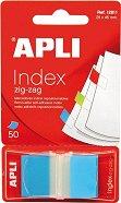 Самозалепващи цветни индекси - Зиг-заг - Комплект от 50 листчета в диспенсър