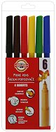 Флумастери - Комплект от 6 цвята