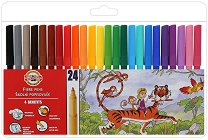 Флумастери - Комплект от 24 цвята