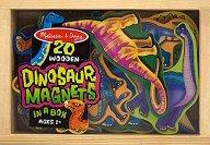 Динозаври - Комплект дървени фигури с магнит -