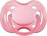 Залъгалка от силикон с ортодонтична форма - Sensitive - За бебета от 0 до 6 месеца -