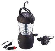 Туристическа лампа с динамо и соларен панел - С 36 светодиода