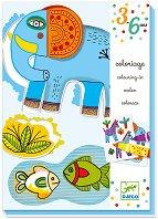 Животните в зоопарка - Творчески комплект за оцветяване - играчка