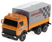 Товарен камион с покрито ремарке - Метална играчка - играчка