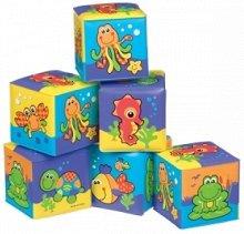 """Меки кубчета - Морски обитатели - Играчки за баня от серията """"Bath"""" - детска бутилка"""