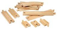 Релси за влак - Дървена играчка за разширение на релсов път - творчески комплект